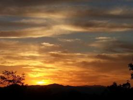 Sunset and Mountains 10-27-14